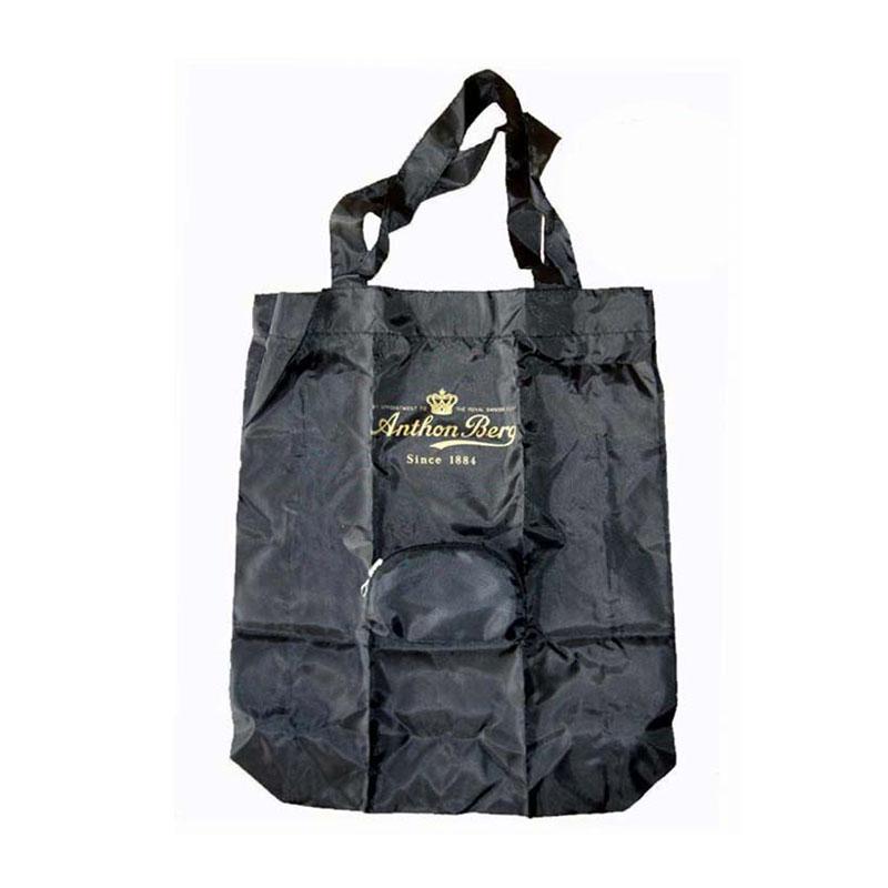 foldable nylon tote bags black
