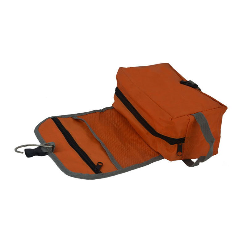 foldable toiletry bag inside