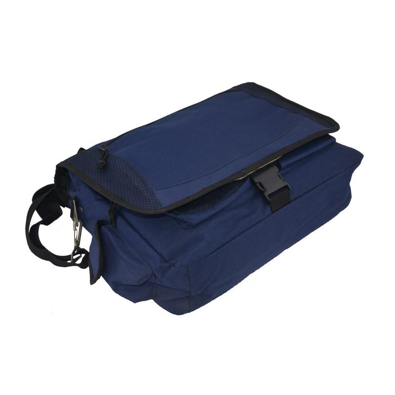 Laptop messenger bag for men side