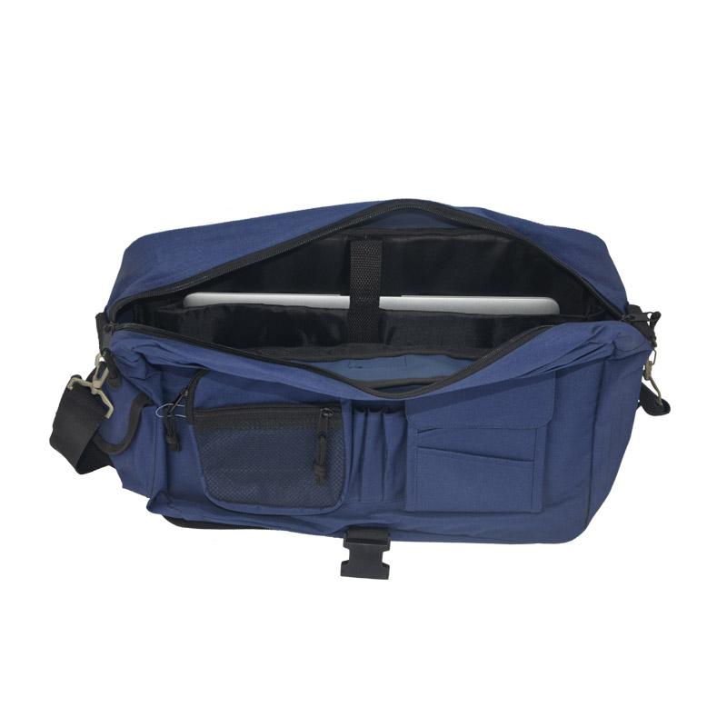 Laptop messenger bag for men inside
