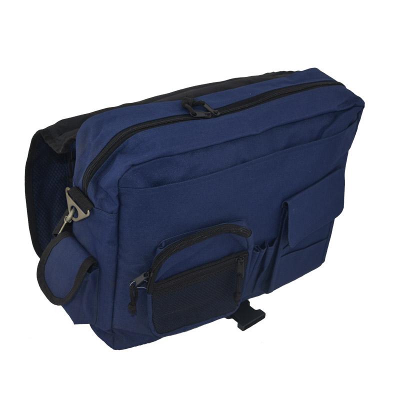 Laptop messenger bag for men front