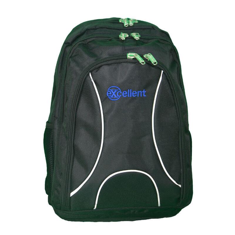 custom laptop backpack black