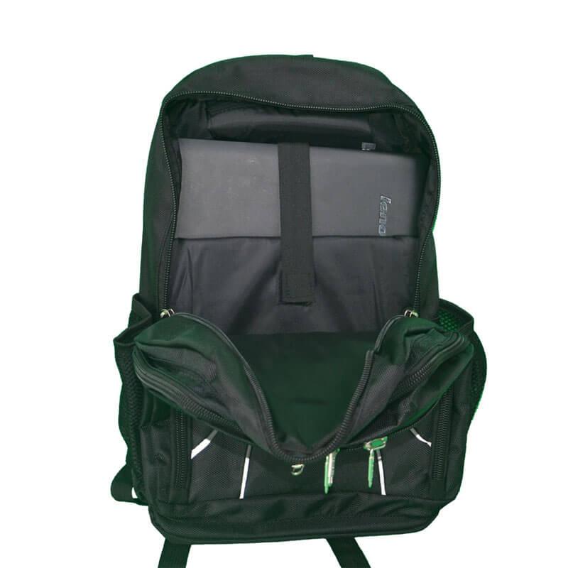 custom laptop backpack inside