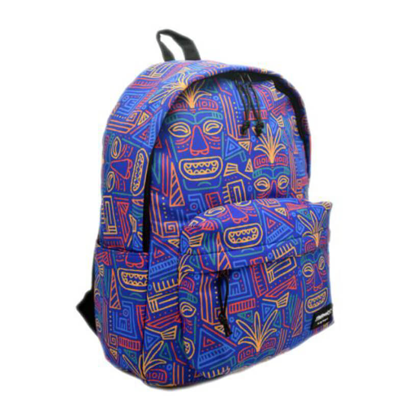 colorful nylon backpack face