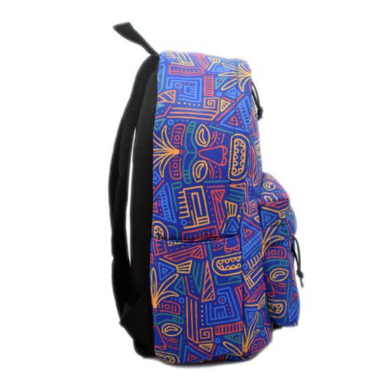 colorful nylon backpack side