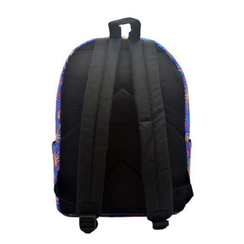 colorful nylon backpack back
