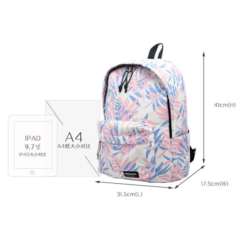 colorful nylon backpack size