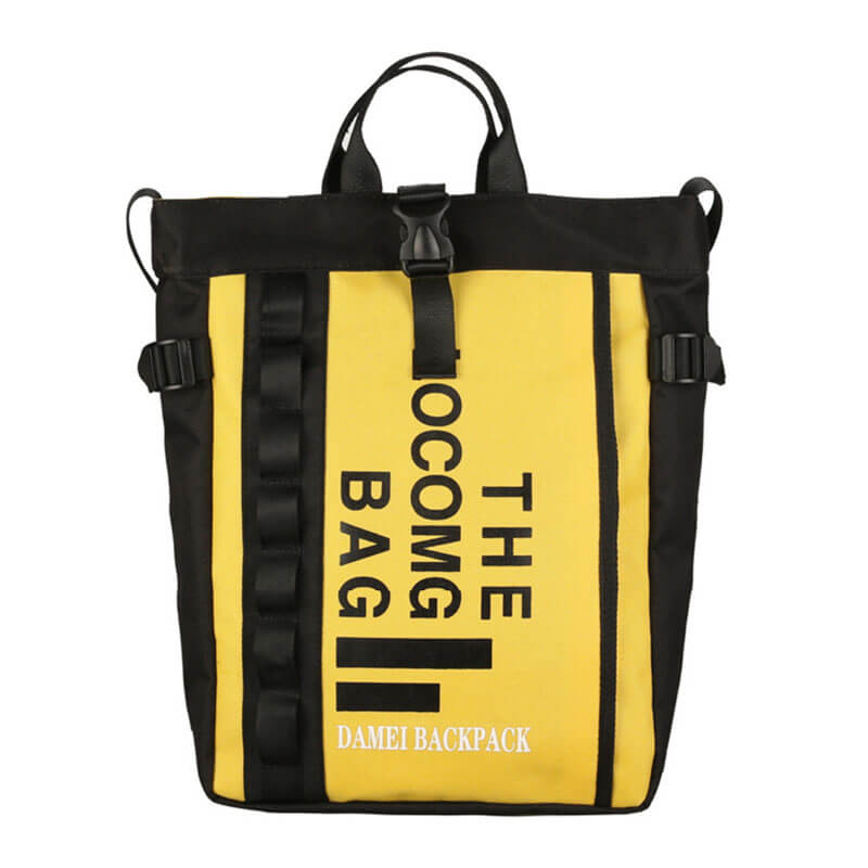 cool style backpack yellow
