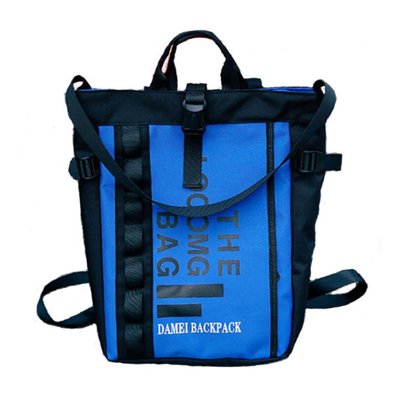 cool style backpack blue